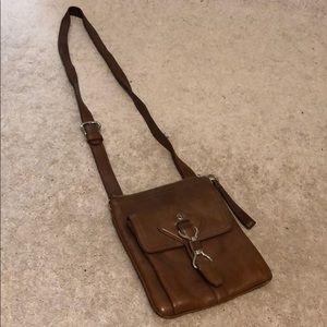Brown small crossbody bag